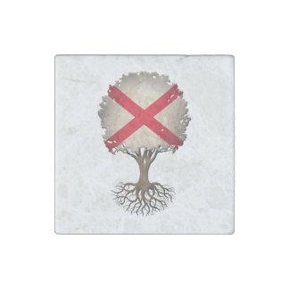 Árbol de la bandera de Alabama del personalizable Imán De Piedra