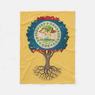 Árbol de la bandera de Belice del personalizable Manta De Forro Polar