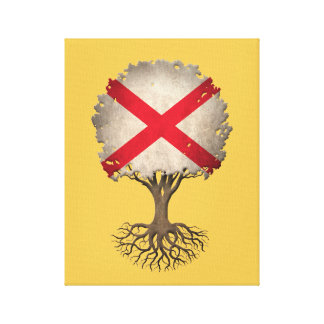 Árbol de la bandera de Irlanda del Norte del Impresion En Lona