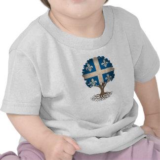 Árbol de la bandera de Quebec del personalizable Camiseta