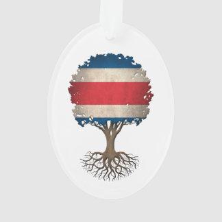 Árbol de la bandera de Rican de la costa del