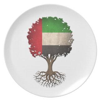 Árbol de la bandera de United Arab Emirates de la Platos