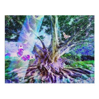 Árbol de la belleza de la vida tarjetas postales