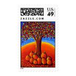 Árbol de la caída con los sellos del arte popular