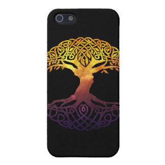 Árbol de la caja de la mota de la vida iPhone 5 carcasas