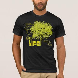 Árbol de la camiseta cristiana de la escritura de