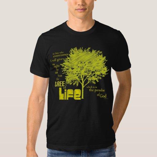 Árbol de la camiseta cristiana de la escritura de playera