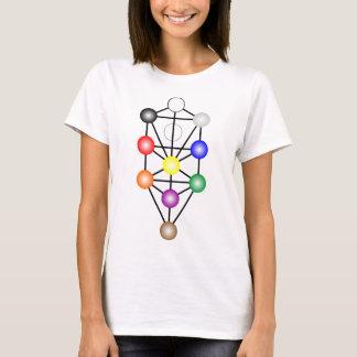 Árbol de la camiseta de las mujeres de la luz de