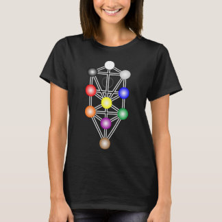 Árbol de la camiseta de las mujeres oscuras de la