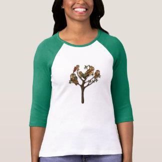Árbol de la camiseta de los búhos