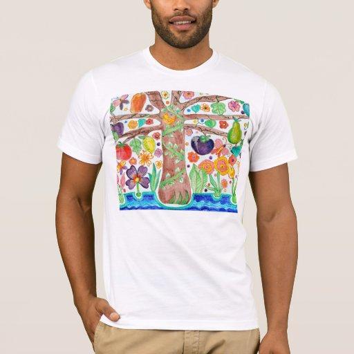 Árbol de la camiseta para hombre de la vida
