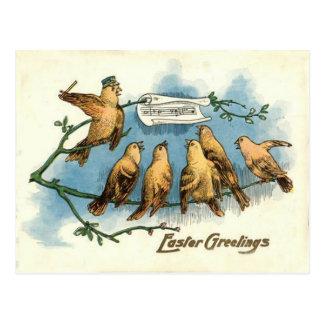 Árbol de la canción del canto del cielo del coro d tarjetas postales
