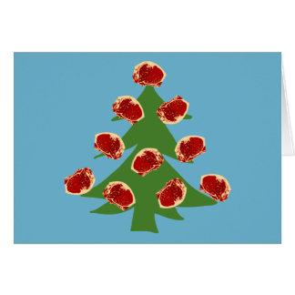 Árbol de la carne del día de fiesta tarjeta de felicitación