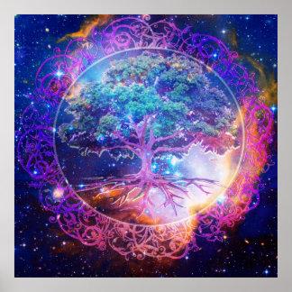Árbol de la cura de la vida poster