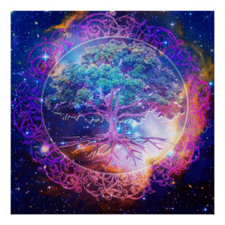 Árbol de la cura de la vida póster