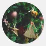 Árbol de la decoración de la alegría del navidad pegatina