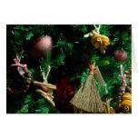 Árbol de la decoración de la alegría del navidad tarjetón