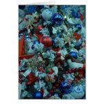 Árbol de la decoración de la alegría del navidad tarjeton