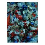 Árbol de la decoración de la alegría del navidad tarjetas postales