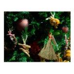 Árbol de la decoración de la alegría del navidad postal