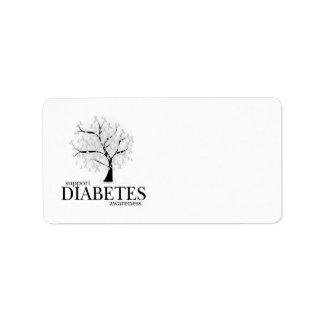 Árbol de la diabetes etiqueta de dirección