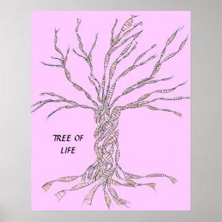 ÁRBOL de la DNA o árbol del ROSA del POSTER de la