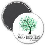 Árbol de la donación de órganos imanes