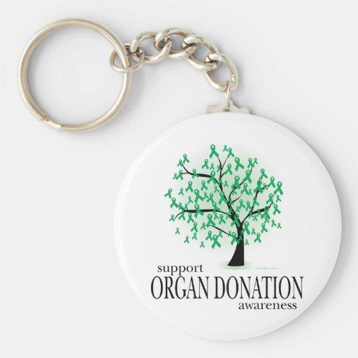 Árbol de la donación de órganos llaveros personalizados
