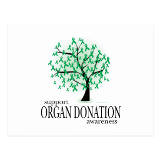 Árbol de la donación de órganos tarjeta postal