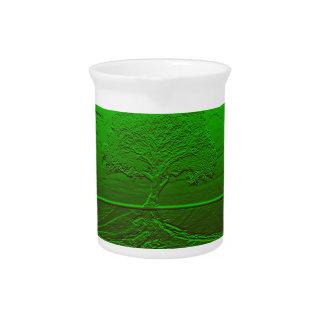 Árbol de la energía del verde de la vida jarras para bebida