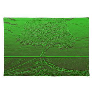 Árbol de la energía del verde de la vida mantel individual