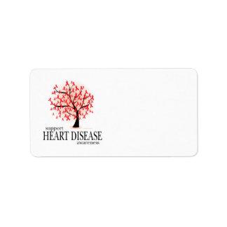 Árbol de la enfermedad cardíaca etiqueta de dirección