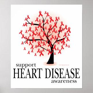 Árbol de la enfermedad cardíaca impresiones