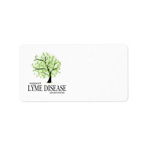 Árbol de la enfermedad de Lyme Etiquetas De Dirección