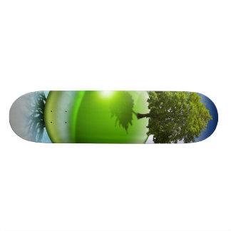 Árbol de la esfera - concepto de la ecología skateboard