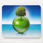 Árbol de la esfera - concepto de la ecología alfombrilla de ratón