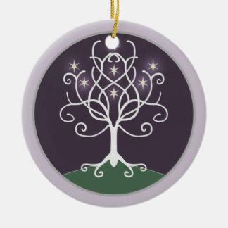 Árbol de la esperanza adorno redondo de cerámica