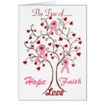 Árbol de la esperanza, del amor y de la fe - tarje