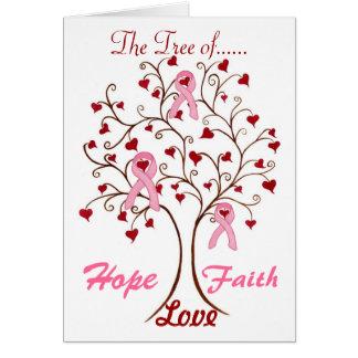 Árbol de la esperanza, del amor y de la fe - tarje tarjeta de felicitación