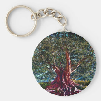 Árbol de la estabilidad de la vida llavero redondo tipo pin