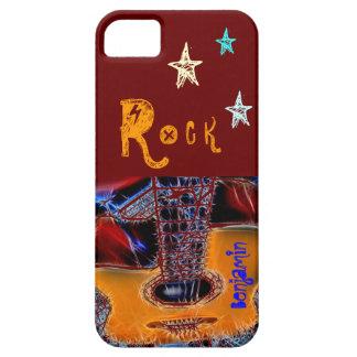 Árbol de la estrella del rock de la guitarra funda para iPhone SE/5/5s