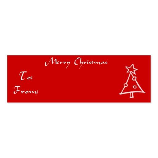 Árbol de la etiqueta del regalo del navidad plantillas de tarjetas de visita