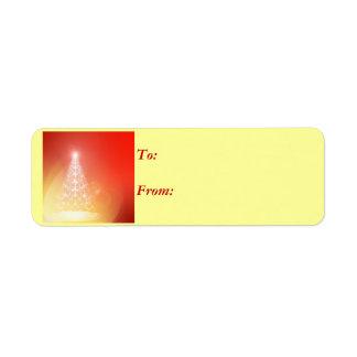 Árbol de la etiqueta ligera del regalo etiquetas de remite