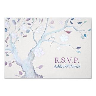 Árbol de la fantasía que casa RSVP Comunicado Personal