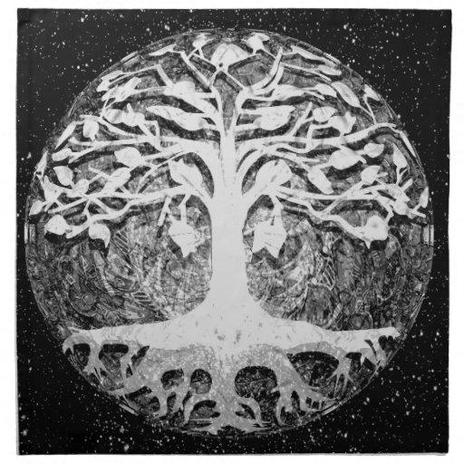 Árbol de la fe y de la esperanza de la vida blanco servilleta de papel