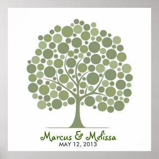 Árbol de la firma del boda - círculos impresiones