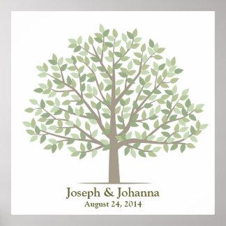 Árbol de la firma del boda - obra clásica posters