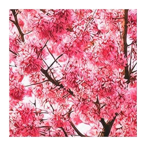 Árbol de la flor de cerezo (2013) impresion de lienzo