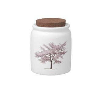 Árbol de la flor de cerezo tarro de cerámica para dulces
