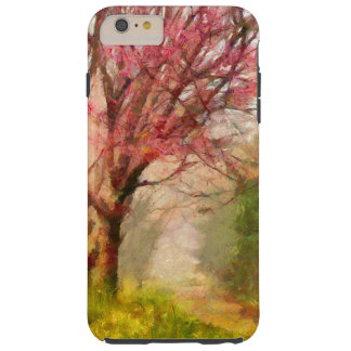 Árbol de la flor de cerezo funda de iPhone 6 plus tough